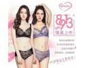 Romensa 8913 Wireless Healthy Bra Set  (Bra x2 + Panties x2) 優雅无钢圈内衣 8913 3/4薄杯 (2件内衣+2条内裤)