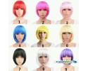 Cosplay Multicolor Bobo Short Wig 小苹果bobo头短直多色假发 - LSC1