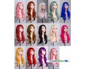 Cosmo Multicolor Female Natural Hair Wig Long 70cm 多色女天然长卷假发 - LLC3