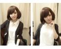 Lady Short Wig Sweet and Lovely  Fluffy Oblique Fringe 女短假发甜美可爱蓬松斜刘海 - LS302