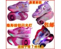 Children's Roller Skating Shoes Single Wheel With Light Flash & Invisible Button 儿童卡通自动暴走鞋 单轮 带灯闪光 隐形按钮