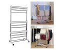 Rack Clothes Drying Steel Laundry Stand Foldable Removable 晾衣钢架 可移动 可折叠