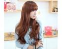 Lady Wig Long Curly Fluffy Hair 女假发齐刘海长卷蓬松修脸 - LL492