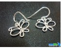 925 STERLING SILVER PRETTY BUTTERFLY HOOP EARRING (ET-148) [YS]